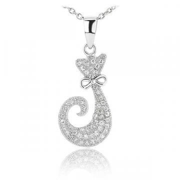 Martisor pandantiv din argint 925 Shiny Kitten de la Luxury Concepts Srl