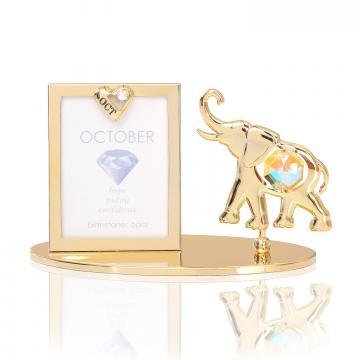 Rama foto Piatra norocoasa Octombrie cu cristale Swarovski de la Luxury Concepts Srl