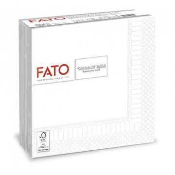 Servetele 33x33 cm, 2 straturi, albe, Le Carezze, Fato