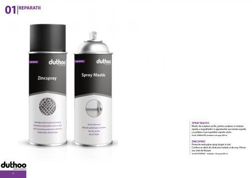 Spray mastic de umplere zgarieturi pe suprafete metalice de la Promob Trading Co SRL