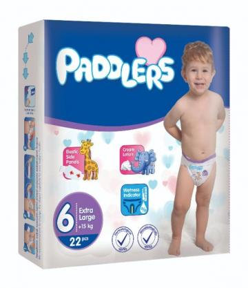 Scutece copii Paddlers, marime 6, 114 buc/set X Large, +15kg de la Europe One Dream Trend Srl