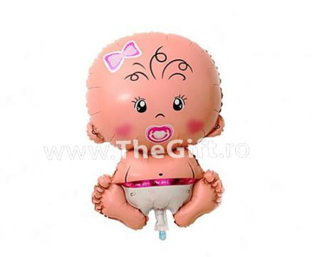 Balon maxi, folie, in forma de fetita