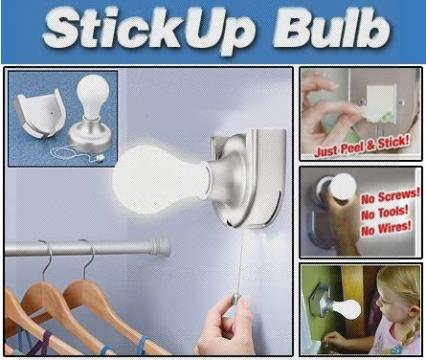 Bec cu intrerupator fara fir Stick Up Bulb
