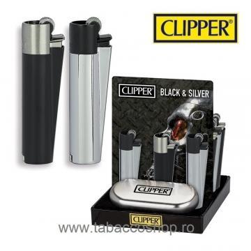 Bricheta Clipper Metal Black and Silver in cutie de la Maferdi Srl