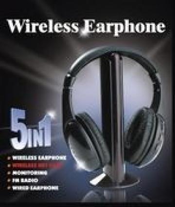 Casti wireless HI-FI 5 in 1