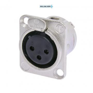Conector XLR Mama de panou cu 3 pini Neutrik NC3FD-L-1 de la Sc Rolling Serv Srl