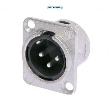 Conector XLR Tata de panou cu 3 pini Neutrik NC3MD-L-1 de la Sc Rolling Serv Srl