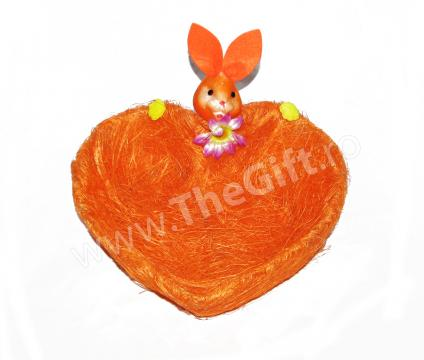 Cosulet decorativ de Paste, in forma de inimioara