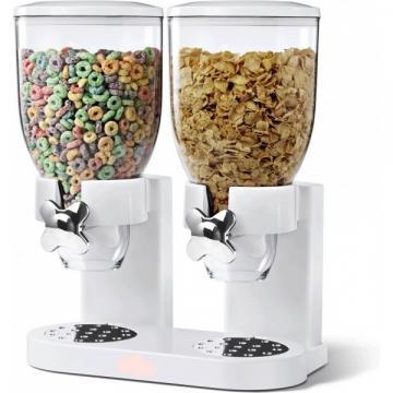 Dispenser de cereale dublu cu capacitate de 7 litri de la Www.oferteshop.ro - Cadouri Online