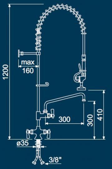 Dus prespalare vase cu 2 robineti 549873 de la Kalva Solutions Srl