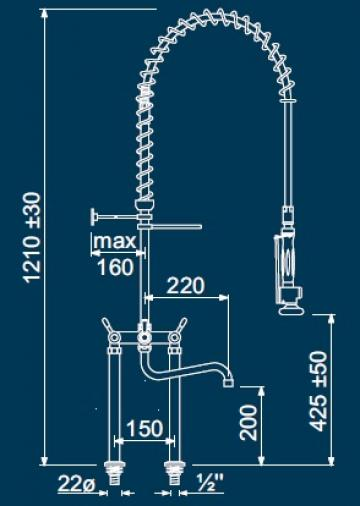 Dus prespalare vase cu doi robineti 547197 de la Kalva Solutions Srl