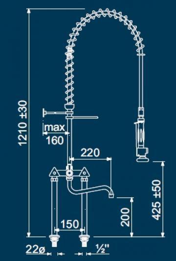 Dus prespalare vase cu 2 robineti 547206 de la Kalva Solutions Srl