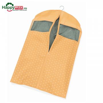 Husa depozitare haine pe umerase vintage-orange 60x100cm de la Plasma Trade Srl (happymax.ro)