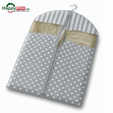 Husa pentru protectie haine-Trend gri 100x60cm