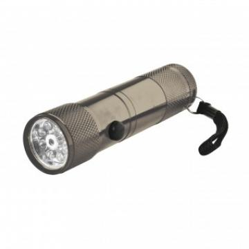Lanterna metalica cu 8 led-uri si raza laser Home MFL 02