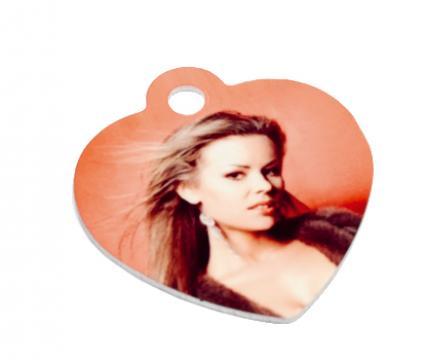 Medalion inima personalizat de la Alconcept Product SRL