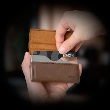 Mini portofel-portcard Hedonism-maro