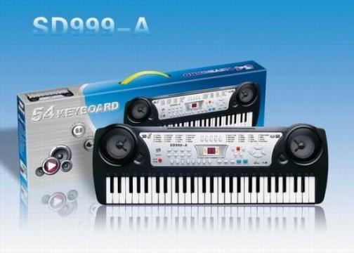 Orga pentru copii electronica cu 54 de clape SD999-A de la Www.oferteshop.ro - Cadouri Online