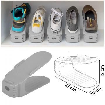 Organizator plastic pentru pantofi - gri de la Plasma Trade Srl (happymax.ro)
