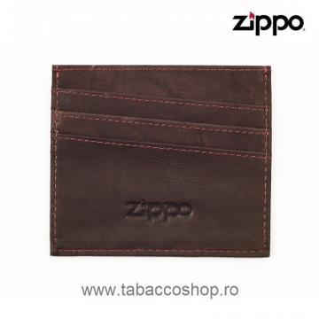 Portofel din piele Zippo Mocha pentru carti de credit de la Maferdi Srl