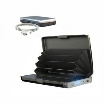 Portofel securizat cu baterie externa 2 in 1 E-Charge Wallet de la Www.oferteshop.ro - Cadouri Online
