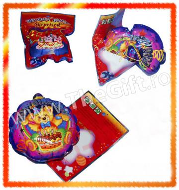 Cadou Punga surpriza, balon si confetti