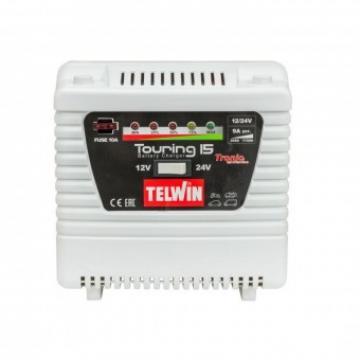 Redresor automat 12 24 V, Telwin Touring 15, max. 9 A