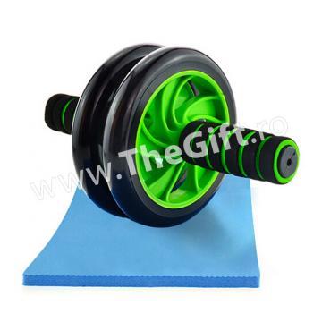 Roata dubla pentru abdomene, aparat fitness Double Wheel