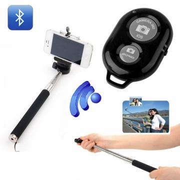 Selfie stick 110 cm cu telecomanda wireless bluetooth de la Www.oferteshop.ro - Cadouri Online