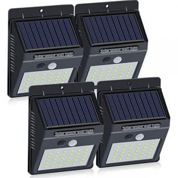Set 4 lampi solare de perete cu senzor de miscare si lumina de la Www.oferteshop.ro - Cadouri Online