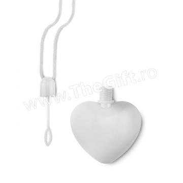Sticla in forma de inima, cu lichid pentru baloane