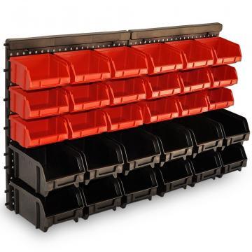 Suport de perete cu 30 cutii depozitare scule si accesorii de la Plasma Trade Srl (happymax.ro)