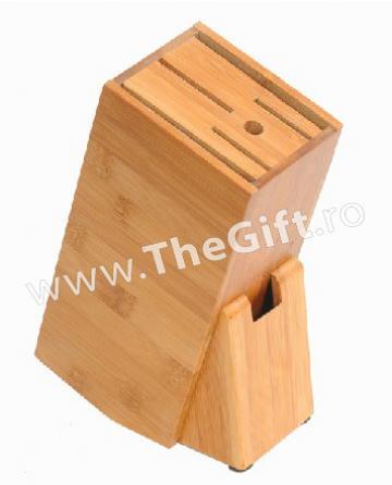 Suport din bambus pentru cutite, foarfeca