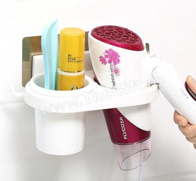 Suport pentru foen si accesorii de baie