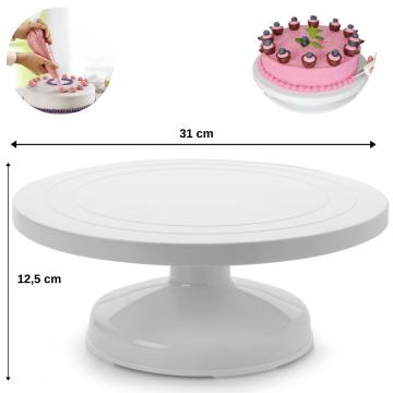 Suport rotativ inalt pentru ornat tortul-Ibili de la Plasma Trade Srl (happymax.ro)