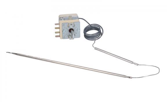 Termostat reglabil 99-185*C, 1pol, 16A, bulb 4mm x 235mm
