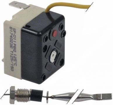 Termostat de siguranta 125*C, 1pol, 16A, bulb 6mmx73mm