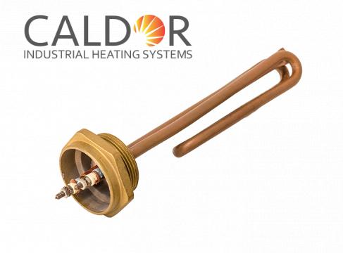 Rezistenta tubulara indoita din cupru pentru boilere 3000W de la Caldor Industrial Heating Systems Srl