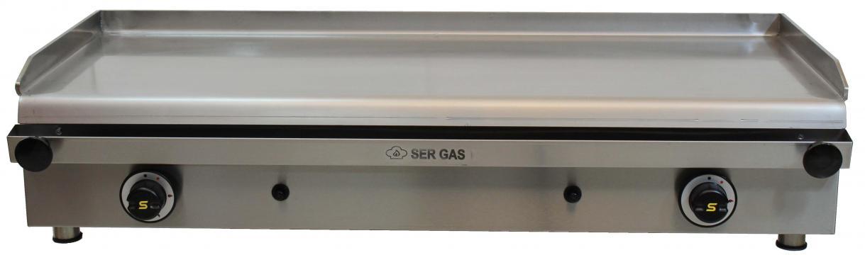 Gratar pe gaz cu suprafata neteda P100 de la Clever Services SRL