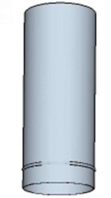 Tub rotund din otel inoxidabil  225 200mm