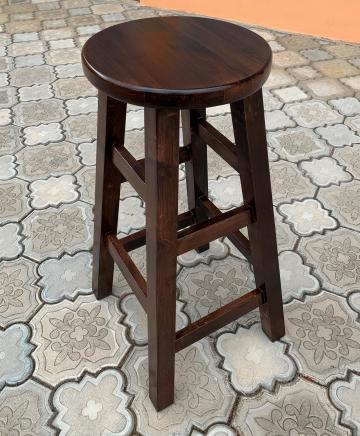Scaun/taburet inalt- lemn masiv- bar, cafenea, pub, bistro de la Sc Interior Wood Stil Srl
