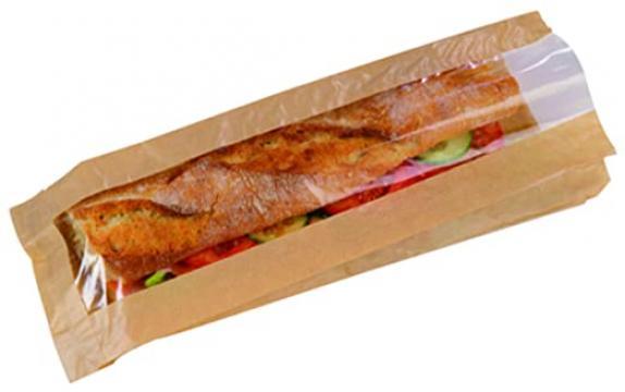 Punga hartie fereastra sandwich 10+5x33cm 1000 buc/bax de la Cristian Food Industry Srl.