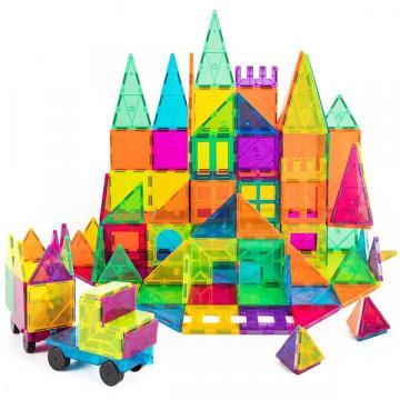 Joc set de constructie magnetic, Magnetic Tiles Castle de la Arca Hobber Srl