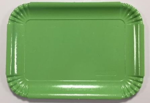 Tavite groase din carton verde mar N.5=4B (20,4x28,8cm) de la Cristian Food Industry Srl.