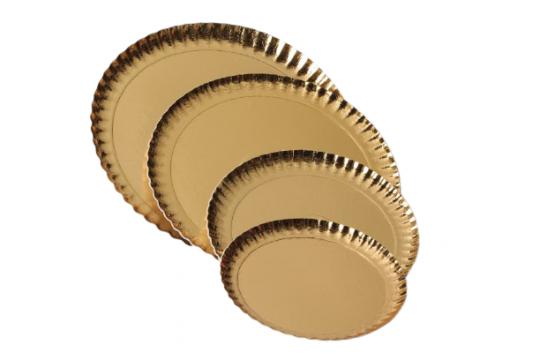 Farfurii groase carton auriu 16cm de la Cristian Food Industry Srl.