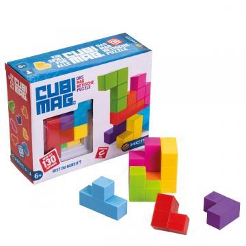 Joc educativ puzzle 3D magnetic, Cubimag de la Arca Hobber Srl