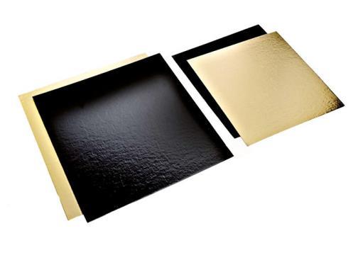 Planseta dreapta auriu/negru 28x28cm de la Cristian Food Industry Srl.