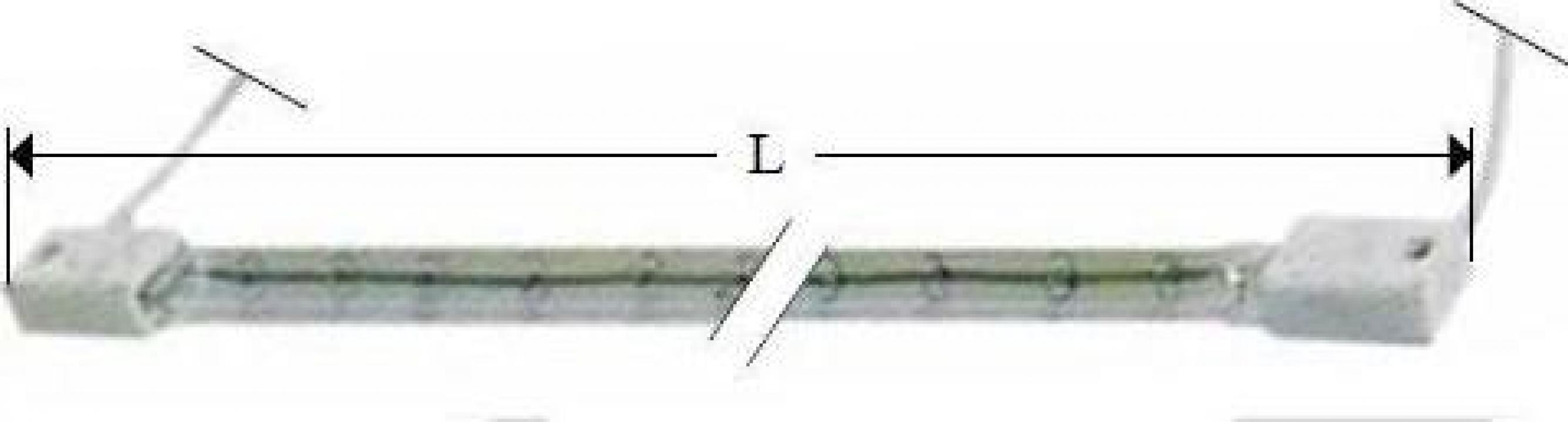 Lampa infrarosu, 220-250V, 1000W, L349mm