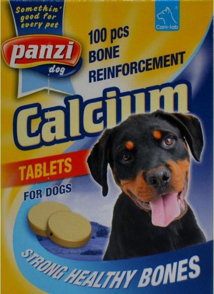 Tablete de calciu pentru caini Panzi Calciu