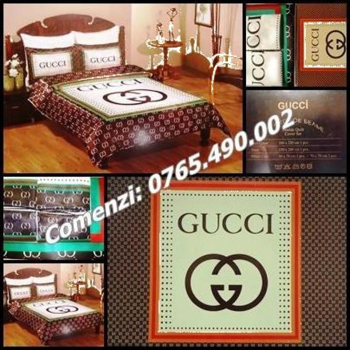 Set lenjerie pat dublu 6 piese Gucci home